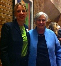 With Dr. Diane Ravitch when she spoke in Seattle on tour with her new national best-selling book, in Sept. 2013 (an event the Seattle Times curiously ignored).